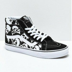 Vans Sk8 Hi Reissue Skulls Black True White